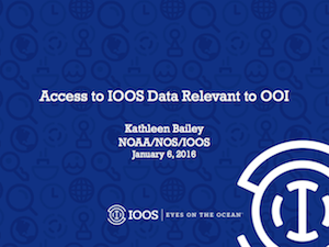 Access to IOOS Data Relevant to OOI
