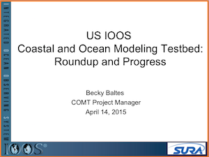 U.S. IOOS Coastal and Ocean Modeling Testbed Roundup