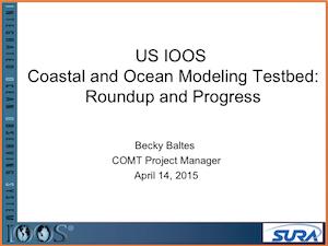 U.S. IOOS Coastal and Ocean Modeling Testbed Roundup