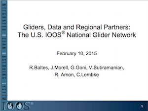 Gliders, Data and Regional Partners: The U.S. IOOS National Glider Network