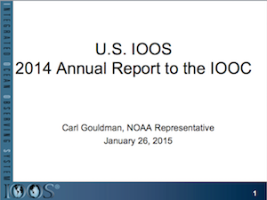 IOOS Program Annual Report to the IOOC