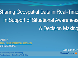Sharing Geospatial Data In Real-Time
