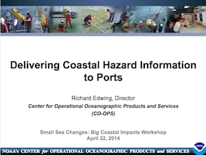 Delivering Coastal Hazard Information to Ports