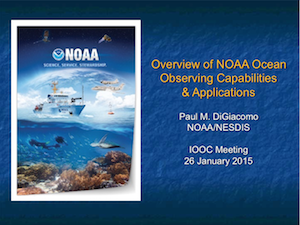 Overview of NOAA's Observing Capabilities and Applications