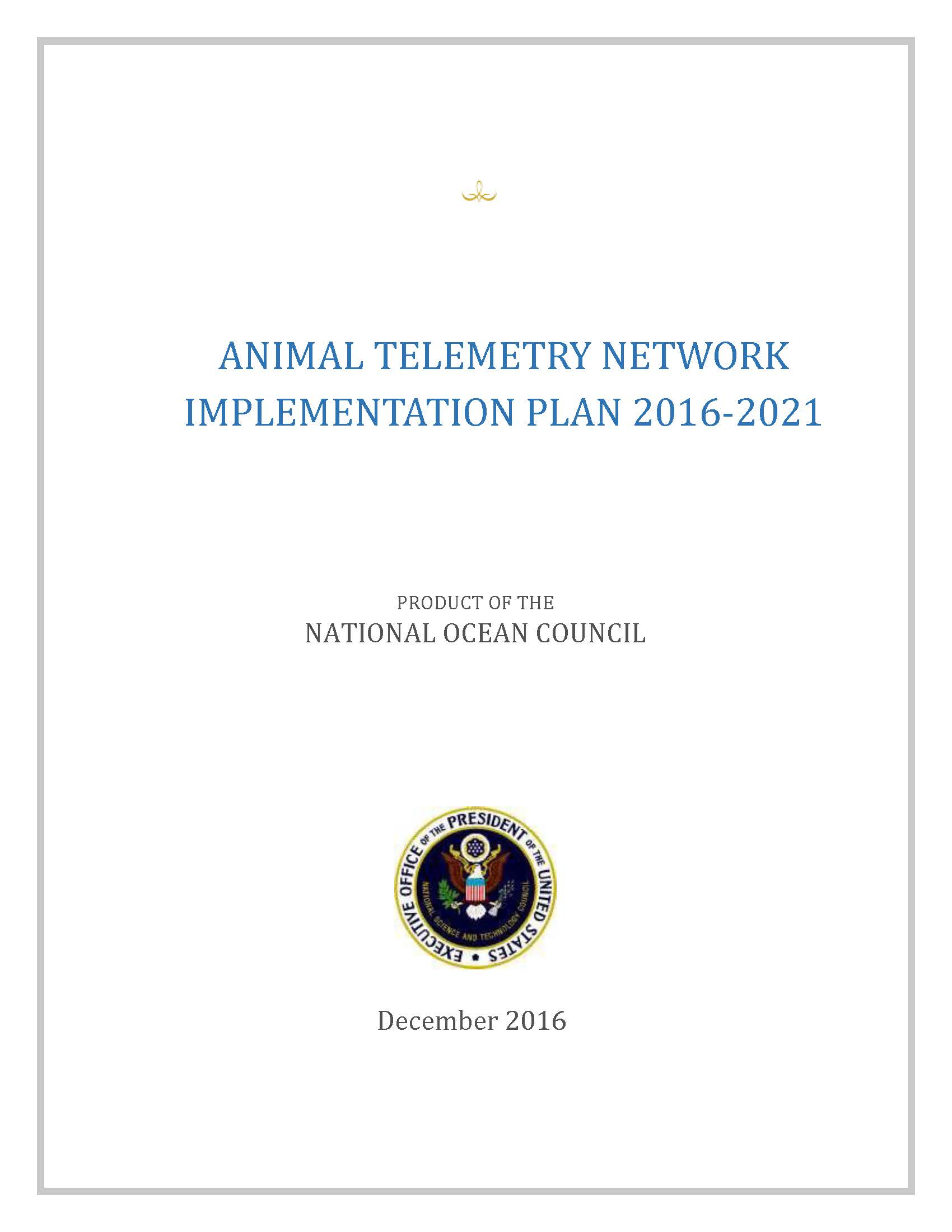 Cover of ATN Implementation Plan