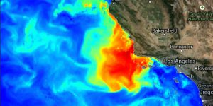 Harmful Algal Bloom (HAB) forecast visualization.