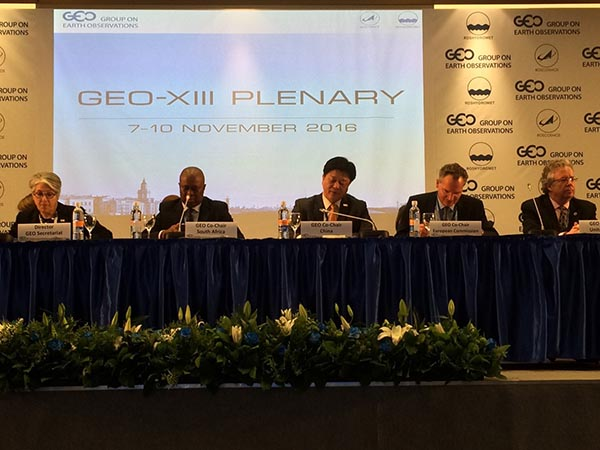 GEO Member representatives sit on panel at GEO-XIII