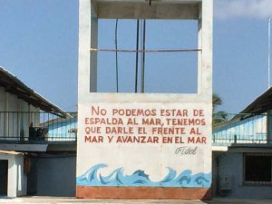 Painted sign in Cuba.