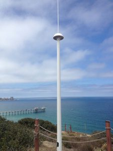 HF radar antenna on the California coast