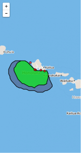 Hawaii coverage for 6km resolution HFR data for FY2016
