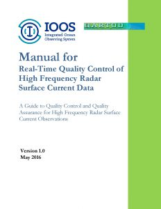 Cover of HFR QARTOD Manual
