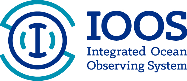 IOOS Logo horizontal layout RGB Colors Blue/Teal/White