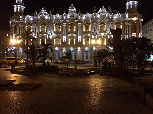 Front of the Gran Teatro de la Habana in downtown Havana.