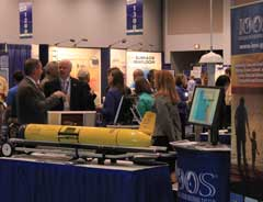 U.S. IOOS booth at the Oceans' 12, MTS IEEE conference. Image Credit: StormCenter Communications, Inc.
