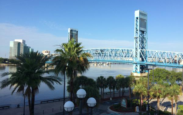 View of Jacksonville looking to the Main Street Bridge spanning the St. John's River