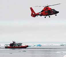 U.S. Coast Guard operations off Alaska. (USCG)