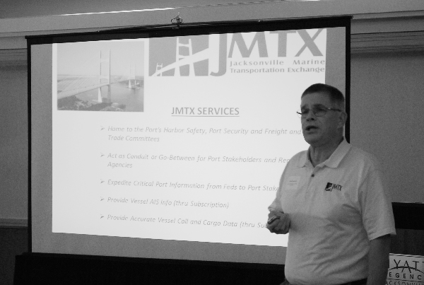 Captain Mike Getchell of the Jacksonville Marine Transportation Exchange briefing at the SECOORA Annual Meeting