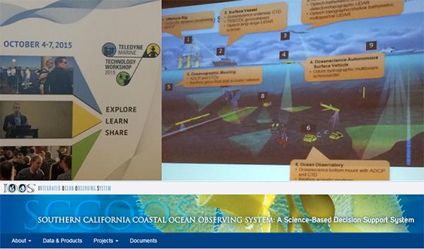 Collaged image of power point slides and SCCOOS internet banner