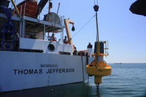 Environmental compliance: deploying a buoy off the NOAA Ship Thomas Jefferson