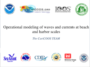 Operational Modeling of Waves and Currents at Beach and Harbor Scales