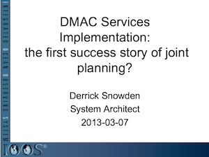 DMAC Services Implementation: The First Success Story of Joint Planning?