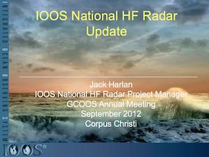 IOOS National HF Radar Update