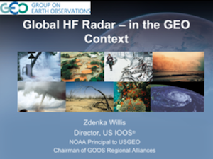 Global HF Radar in the GEO Context