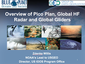 Overview of Pico Plan, Global HF Radar and Global Gliders
