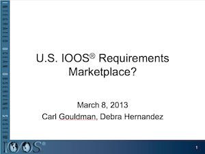 U.S. IOOS® Requirements Marketplace?