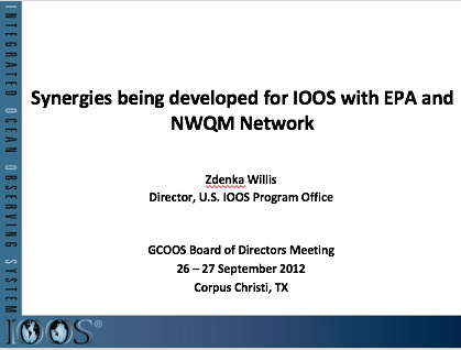 Synergies Being Developed for IOOS with EPA and NWQM Network