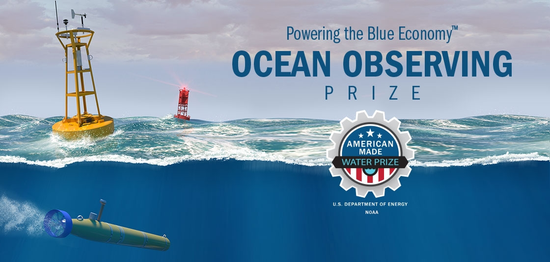 graphic banner for Ocean Observing Prize