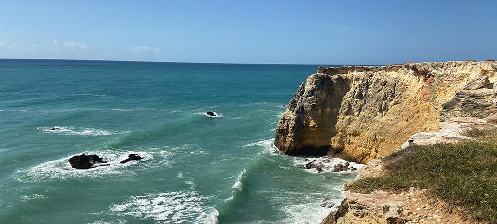 cliffs at Llanos Costa, PR